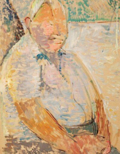 "The seaman, 1983, oil on panel, 70x50cm (27.5""x19.6"")"