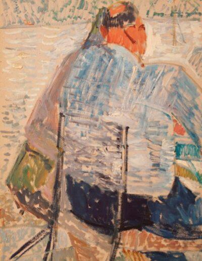 "Theodore's back, 1983, oil on panel, 70x50cm (27.5""x19.6"")"