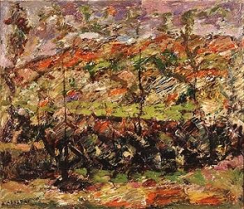 "Landscape with trees, undated, oil on panel, 41x48cm (16.1""x18.8""), G.I. Katsigras Museum, Municipal Art Gallery of Larisa"