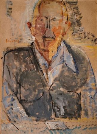 "Tsigaros, the card sharper, 1983, oil on panel, 70x50cm (27.5""x19.6"")"
