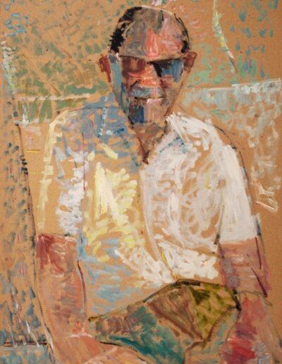 """Xerxes, 1983, oil on panel, 70x50cm (27.5""""x19.6"""")"""