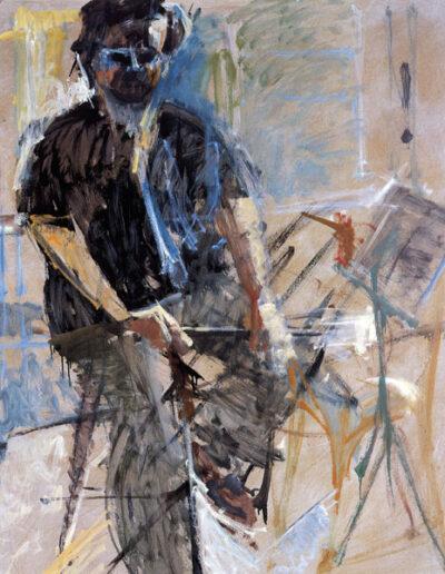 "Alkis Baltas, Conductor-Composer, 1993, oil on panel, 146x122cm (57.4""x48"")"
