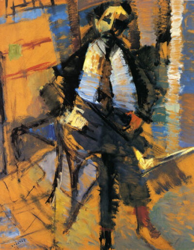 "Alkis Charalambidis, Professor of Art History, 1993, oil on panel, 152x122cm (59.8""x48"")"