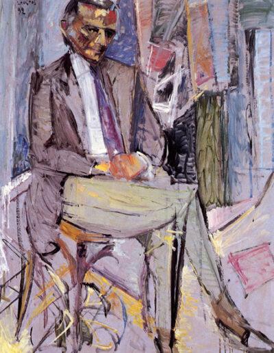 """Andreas Zisimatos, Actor, 1992, oil on panel, 164x122cm (64.5""""x48"""")"""