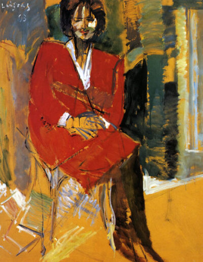 """Anixi Balasa, Former Director of the Vafopoulio Cultural Centre, 1993, oil on panel, 153x122cm (60.2""""x48"""")"""