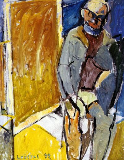 "Chrysanthis Christou, Professor of Art History-Academician, 1992, oil on panel, 165x122cm (64.9""x48"")"