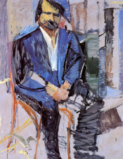 "Dimitris Karellis, Actor, 1992, oil on panel, 142x122cm (55.9""x48"")"