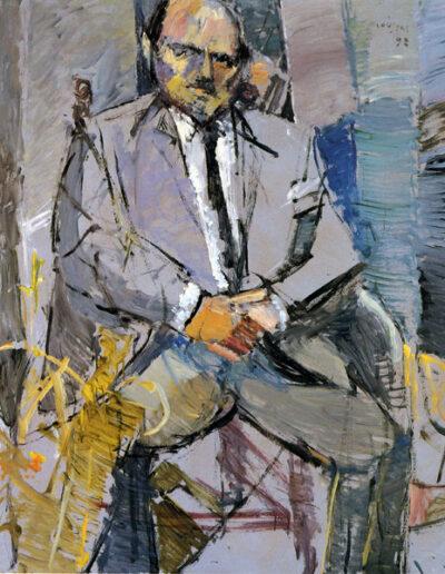 "Dimitris Konstantopoulos, Professor of Law, 1992, oil on panel, 140x122cm (55.1""x48"")"