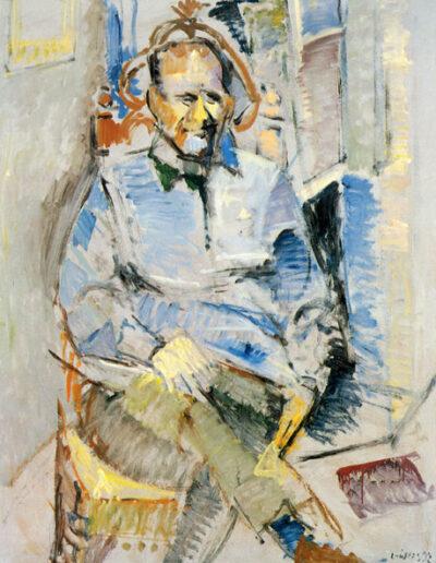 """Dimitris Maronitis, Professor of Classics, 1992, oil on panel, 160x122cm (62.9""""x48"""")"""