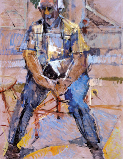 """George Kitsopoulos, Writer-Art Critic, 1993, oil on panel, 160x122cm (62.9""""x48"""")"""