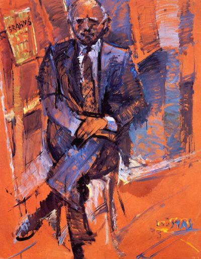 "George Thymis, Pianist, 1993, oil on panel, 153x122cm (60.2""x48"")"