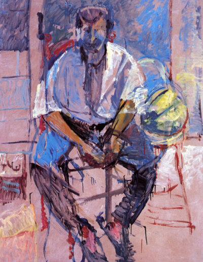 "Harry Klynn, Actor-Comedian, 1993, oil on panel, 165x122cm (64.9""x48"")"