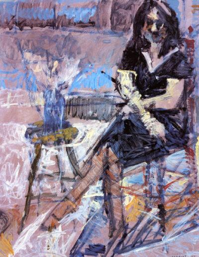 """Katia Kilesopoulou, Art Historian, 1993, oil on panel, 152x122cm (59.8""""x48"""")"""
