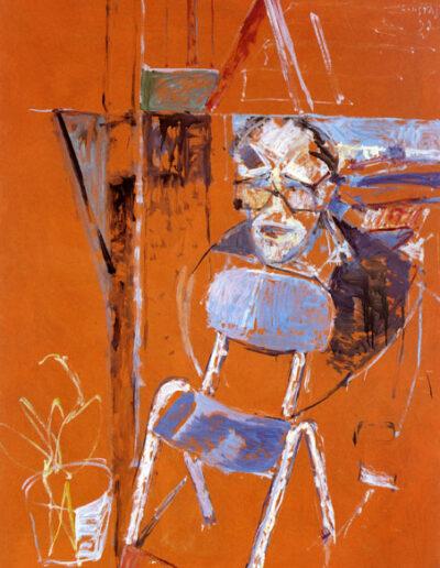 "Manolis Andronikos, Archaeologist, 1992, oil on panel, 165x122cm (64.9""x48"")"