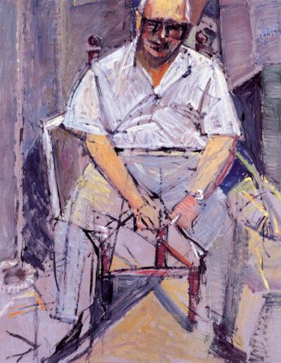 """Nikos Astrinidis, Composer, 1992, oil on panel, 153x122cm (60.2""""x48"""")"""