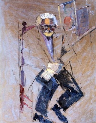 """Nikos-Gabriel Pentzikis, Writer-Painter, 1992, oil on panel, 161x122cm (63.3""""x48"""")"""
