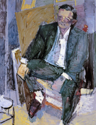 "Panayiotis Spyrou, Cardiologist, 1993, oil on panel, 158x122cm (62.2""x48"")"