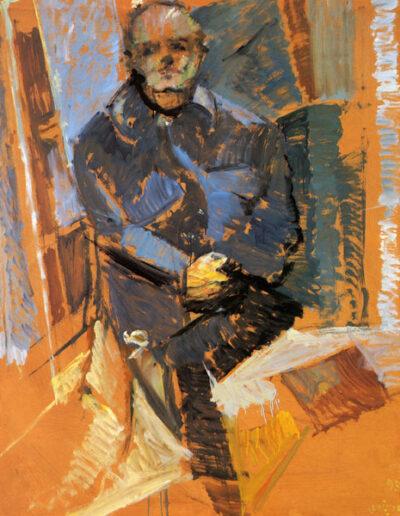 """Panos Papanakos, Painter, 1993, oil on panel, 153x122cm (60.2""""x48"""")"""