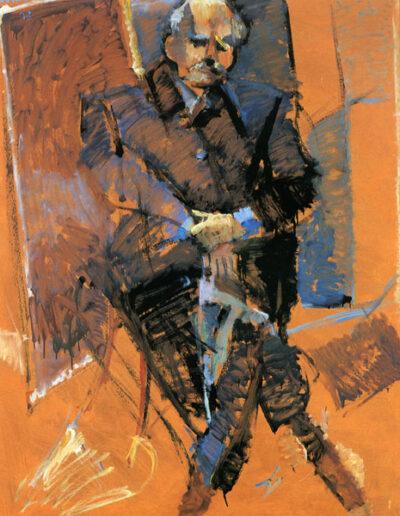 """Solomon Molho, Book Dealer, 1993, oil on panel, 152x122cm (59.8""""x48"""")"""