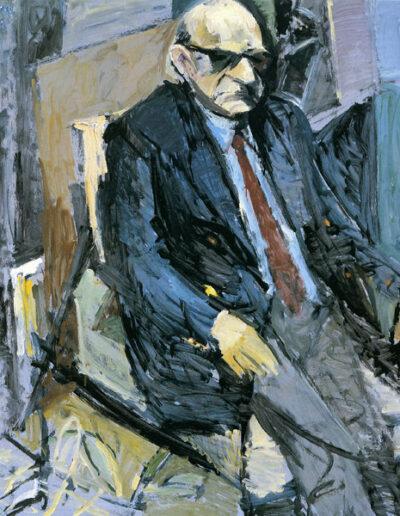 """Takis Varvitsiotis, Poet, 1992, oil on panel, 142x122cm (55.9""""x48"""")"""
