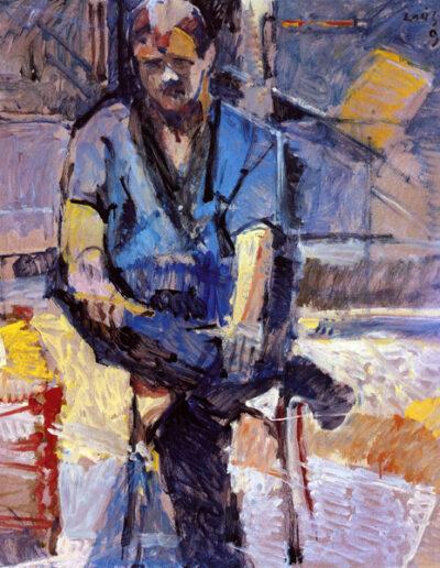 """Yiannis Ioannidis, Basketball Coach, 1993, oil on panel, 141x122cm (55.5""""x48"""")"""