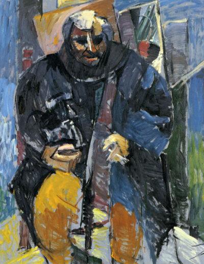 """Yiannis Kyriakidis, Photographer, 1992, oil on panel, 154x124cm (60.6""""48.8"""")"""
