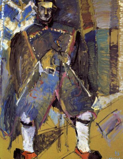 "Zacharias Diafas, War Veteran, 1993, oil on panel, 170x122cm (66.9""x48"")"