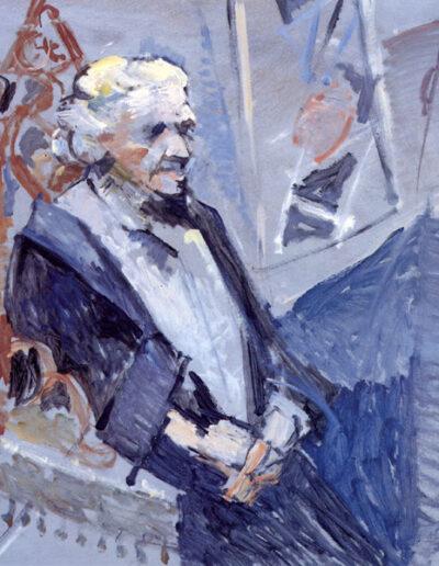 "Zoe Karelli, Poetess, 1992, oil on panel, 122x113cm (48""x44.4"")"
